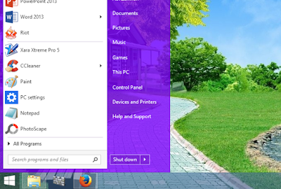 Cara Membuat Start Menu Windows 8/8.1 dan Windows 10 Seperti Windows 7