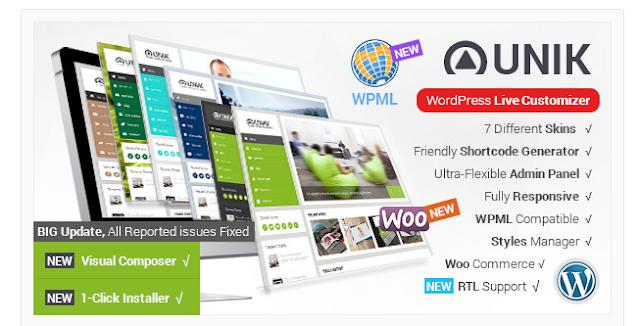 Unik Ultra Customizable WordPress Premium Theme