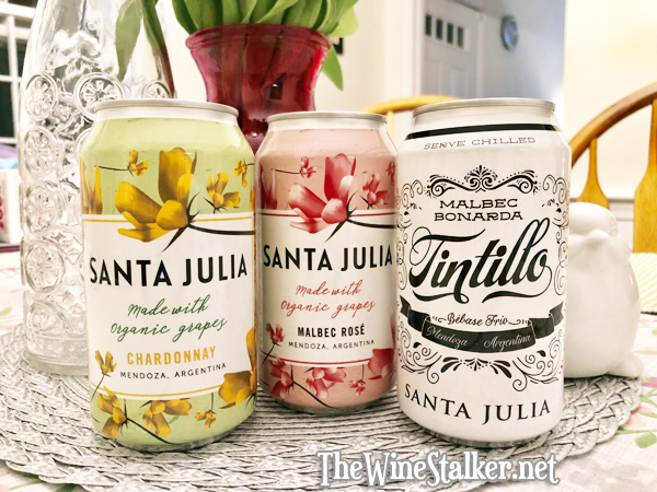 Santa Julia Chardonnay, Malbec Rosé, and Tintillo