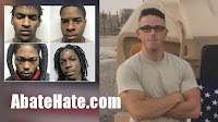 4 black males arrested after white Airman's murder