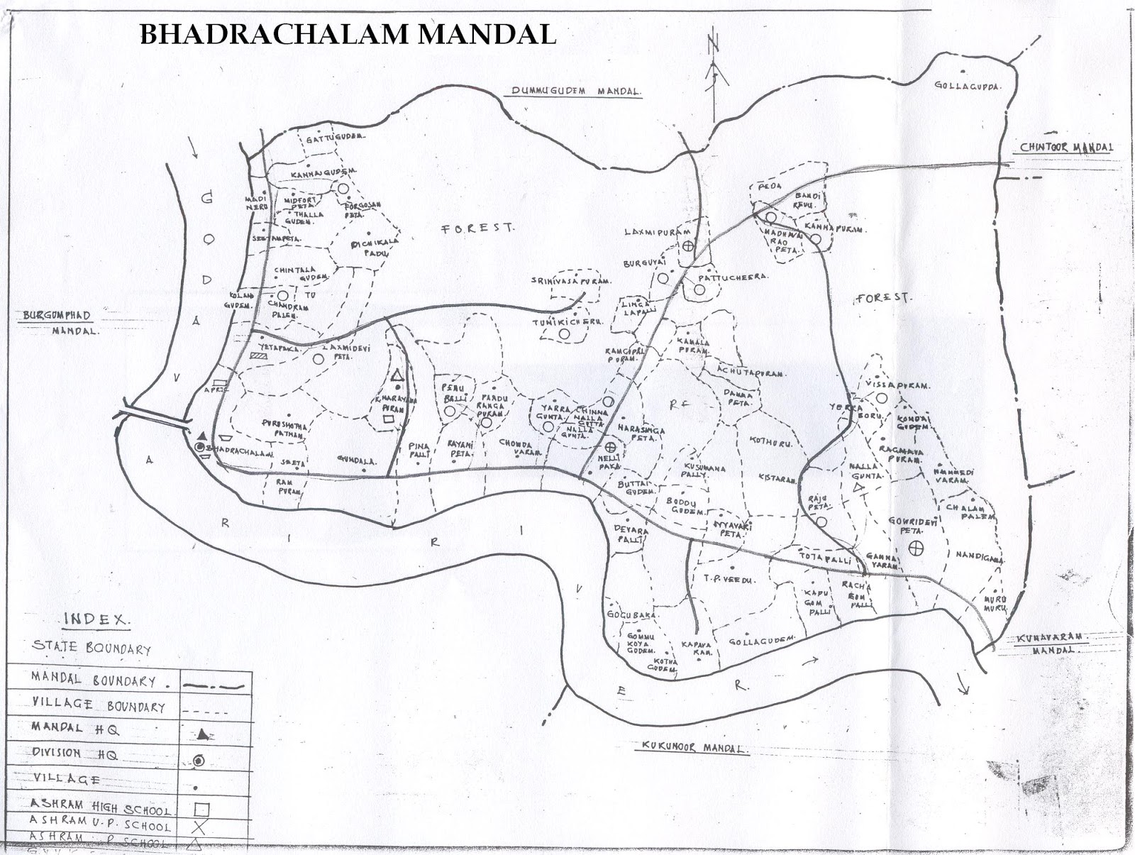 sub collector's office, bhadrachalam bhadrachalam mandal map