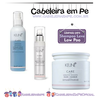 Máscara, Sérum e Spray Bifásico Care Keratin Smooth - Keune (liberados para Low Poo)