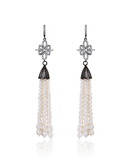 Tassel pearl drops by Anaqa