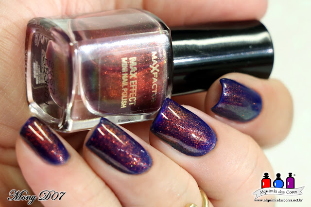 Chroma Chamaleon, 919 Black Lingerie, Amethyst, Avon, MARK Gel Finish, La Femme para carimbo, multichrome, preto, cremoso, 730 Royal, Max Factor, Fantasy Fire, unicorn pee, xixi de unicórnio, azul royal, Mony D07,
