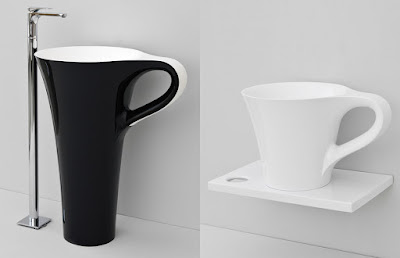 อ่างล้างหน้าทรงแก้วกาแฟ
