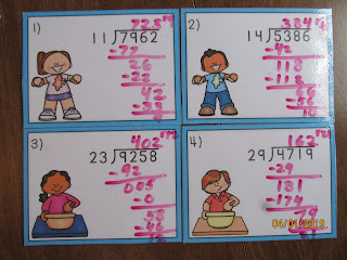 2 Digit Long Division With Remainders Slime Task Cards