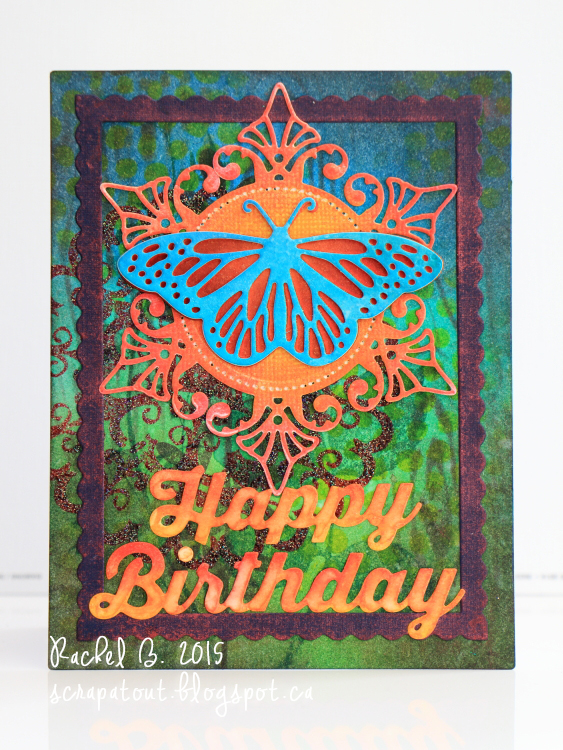 Handmade card, Impression Obsession, Spellbinders, Butterfly, Birthday