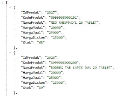 Membuat file JSON dengan PHP dan Mysql