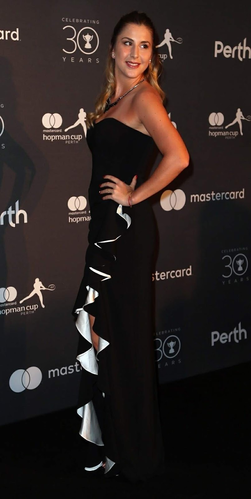 Belinda Bencic Posing at Hopman Cup New Years Eve