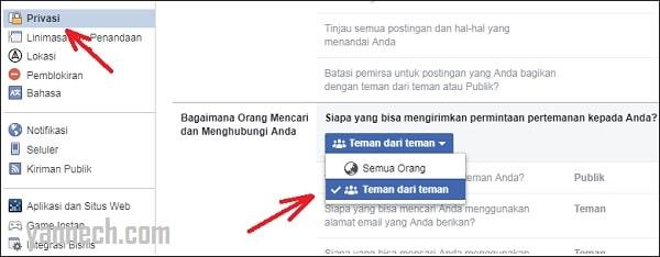 Cara Agar Facebook Tidak Bisa di Add Oleh Orang Lain