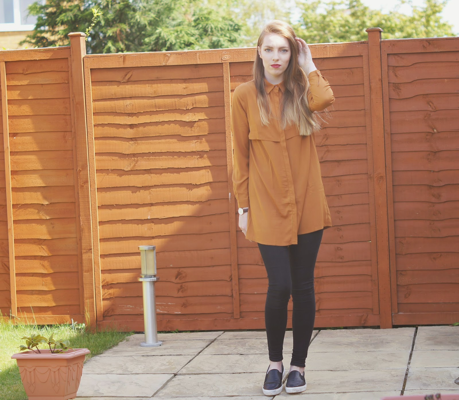 MISSGUIDED trench shirt