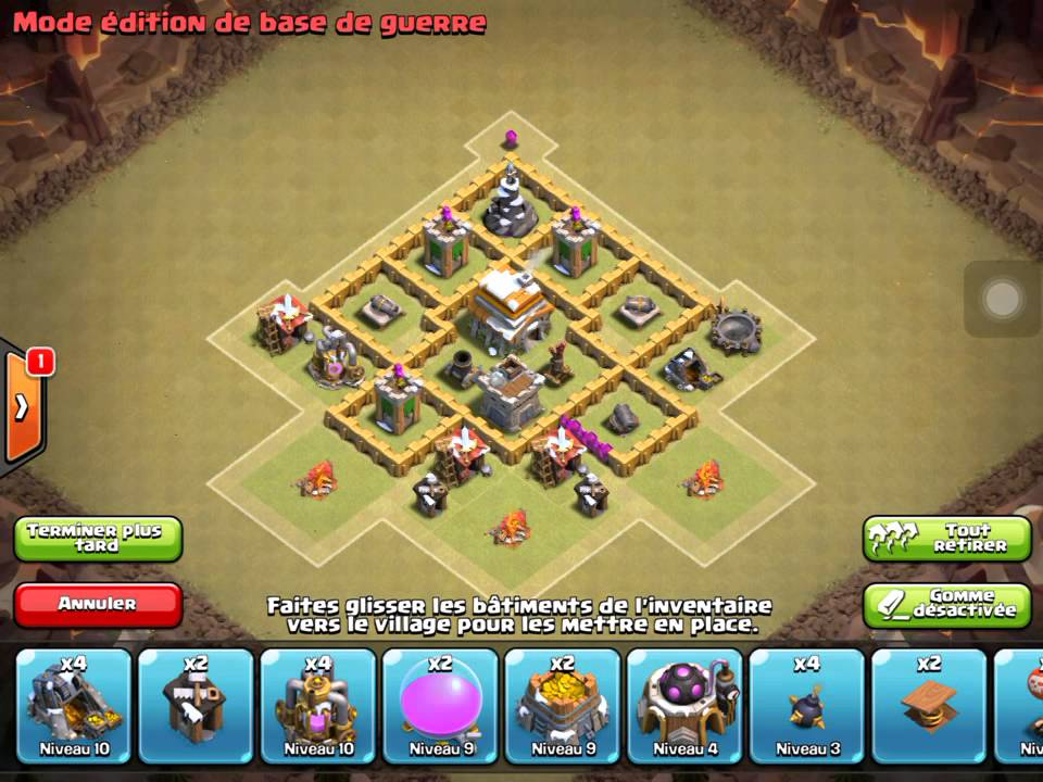 Faire un bon village hdv 5 YouTube