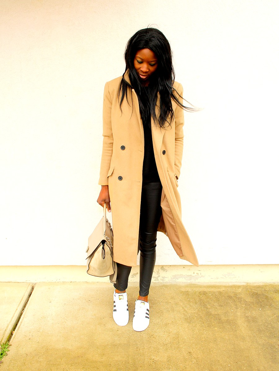 Celine trapeze Manteau camel Adidas Superstar Blog Mode