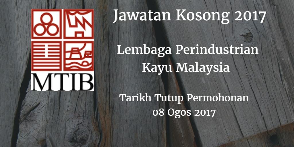 Jawatan Kosong MTIB 08 Ogos 2017