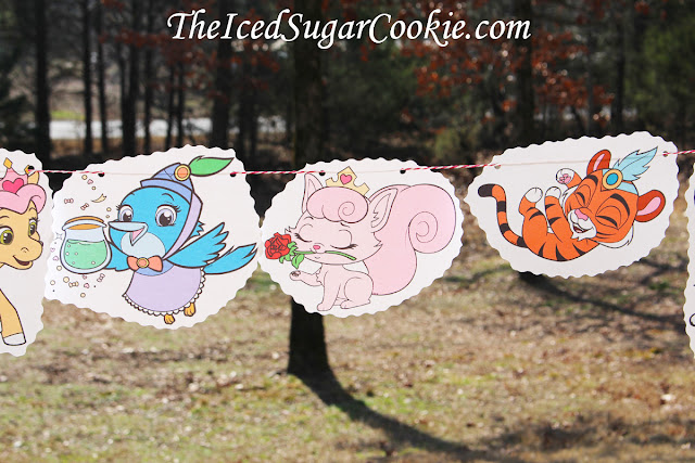 Whisker Haven Palace Pets Birthday Party Flag Bunting Banner Garland- Pumpkin, Treasure, Petite, Mr. Featherbon, Dreamy, Sultan, Berry
