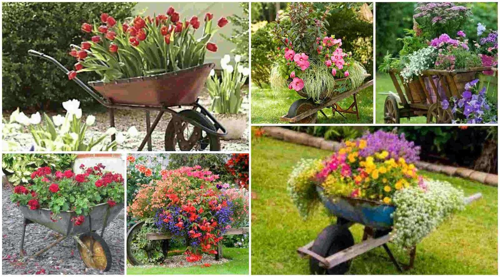 Old Wheelbarrow As A Planter 15 Great Ideas Diy Fun World
