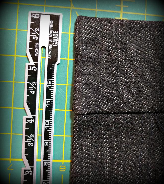 Use a seam gauge to turn sharp corners.