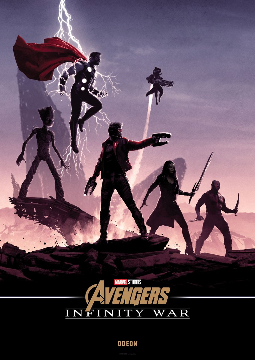 these uk avengers: infinity war posters combine to form one gigantic