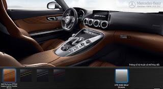 Nội thất Mercedes AMG GT S 2016 màu Nâu Saddle 564