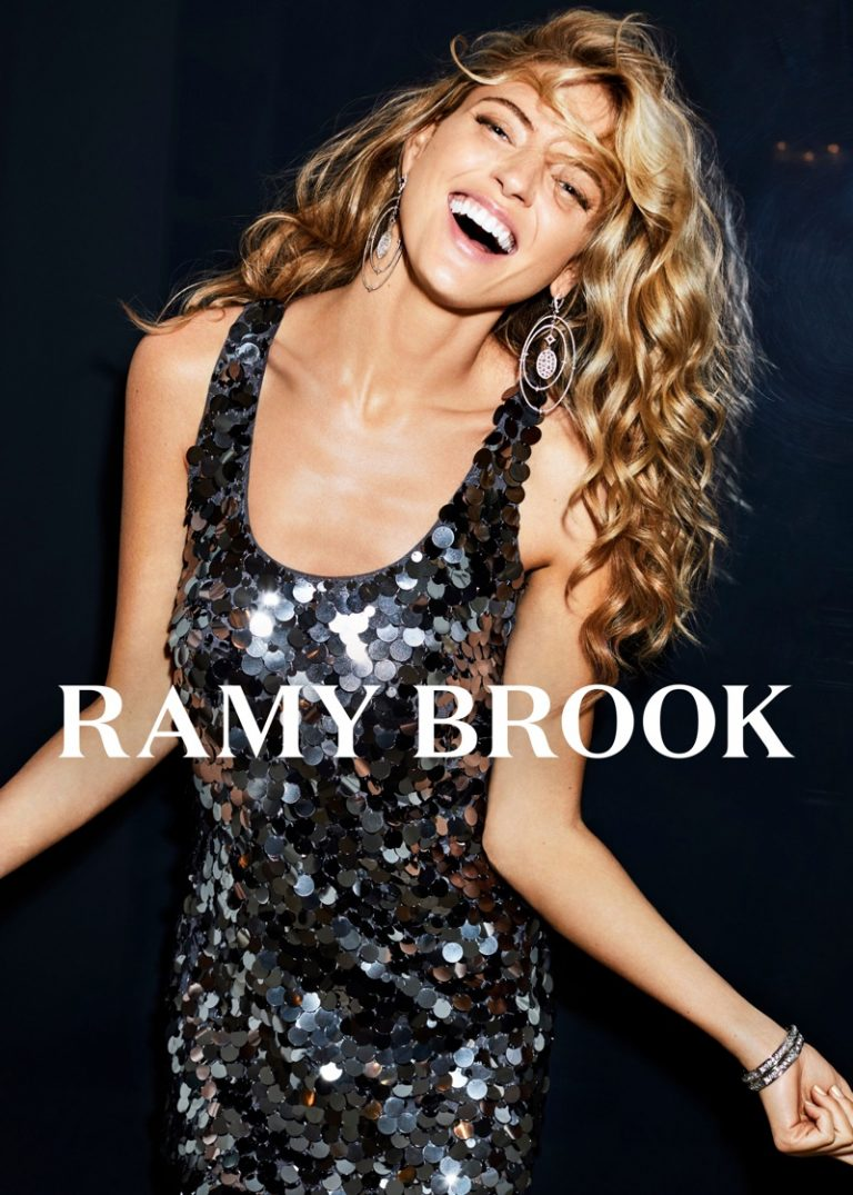 Martha Hunt for Ramy Brook Fall Winter 2018