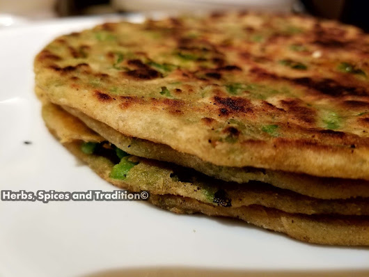 GREEN PEAS PARATHA (INDIAN FLAT BREAD STUFFED WITH PEAS)