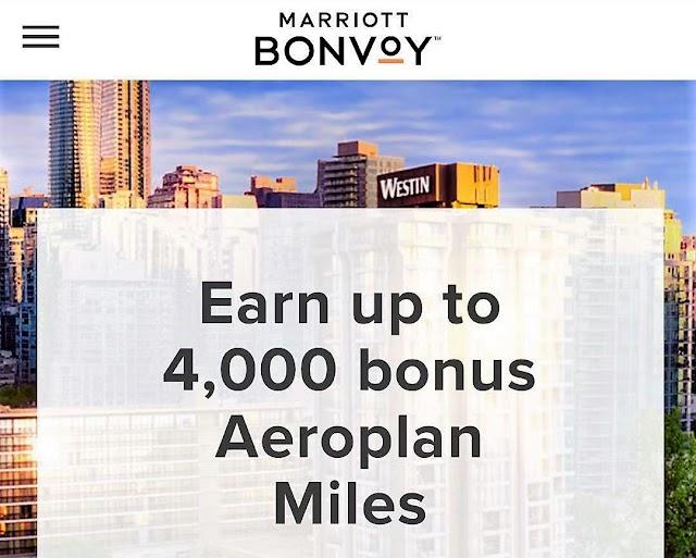 每次入住Marriott萬豪加拿大地區酒店最高可獲得4000 Aeroplan Miles!(5/31前)