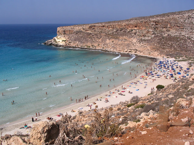 rabbit beach lampedusa italy