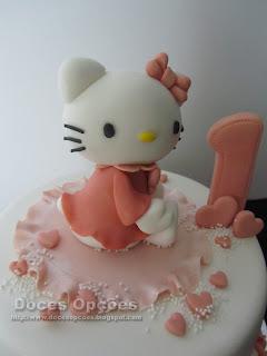 Bolo de aniversário Hello Kitty pasta açucar