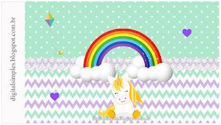 Encantadores Unicornios: Invitaciones y Etiquetas para Candy Bar para Imprimir Gratis.