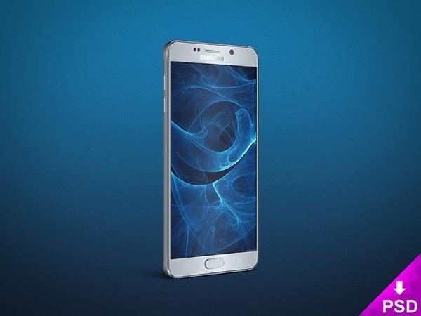 Smartphone & Tablet Mockup PSD Terbaru Gratis - Samsung Galaxy Note 5 Angle Mockup