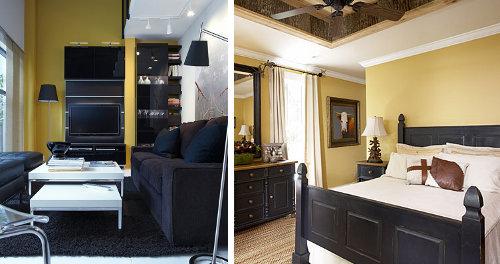 El Color De Las Paredes Con Muebles Negros