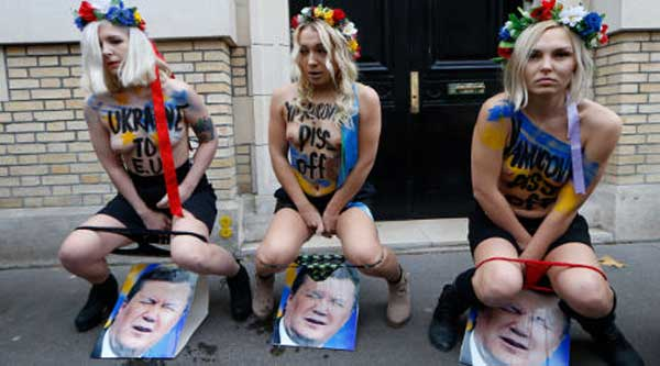 Ukrainian Women Group Femen Who 6