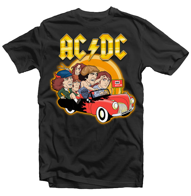 ac dc comic tshirt design