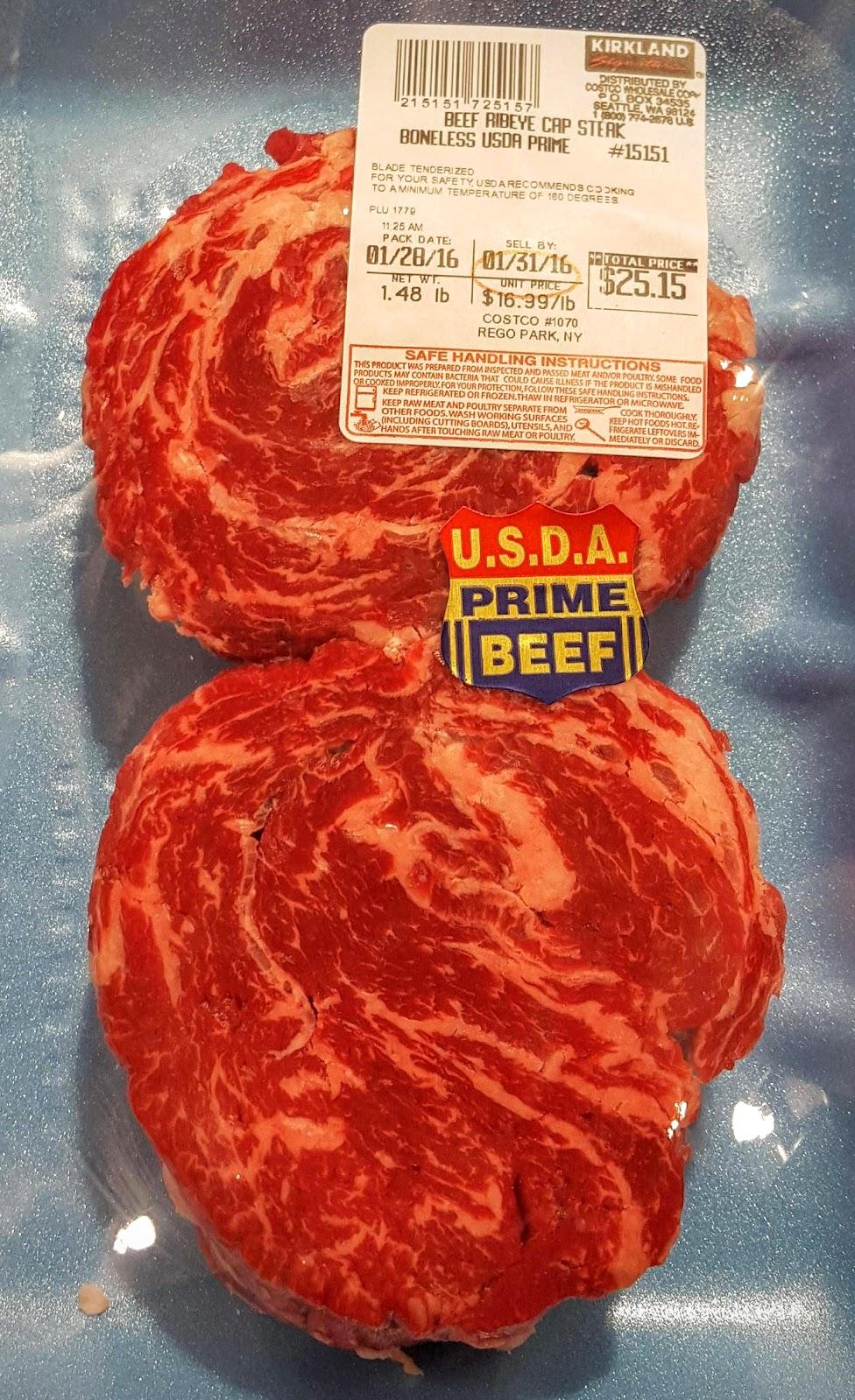 prime ribeye cap steaks from costco texags