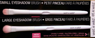 Wet&Wild small large eyeshadow brushes review pink white Dollar Store soft