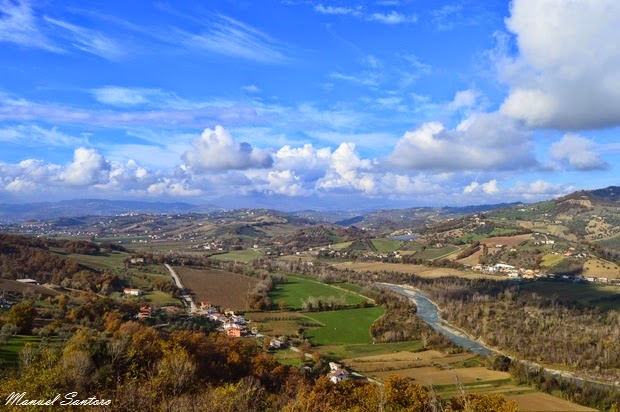 Valle del Vomano vista dalla torre di avvistamento di Montegualtieri