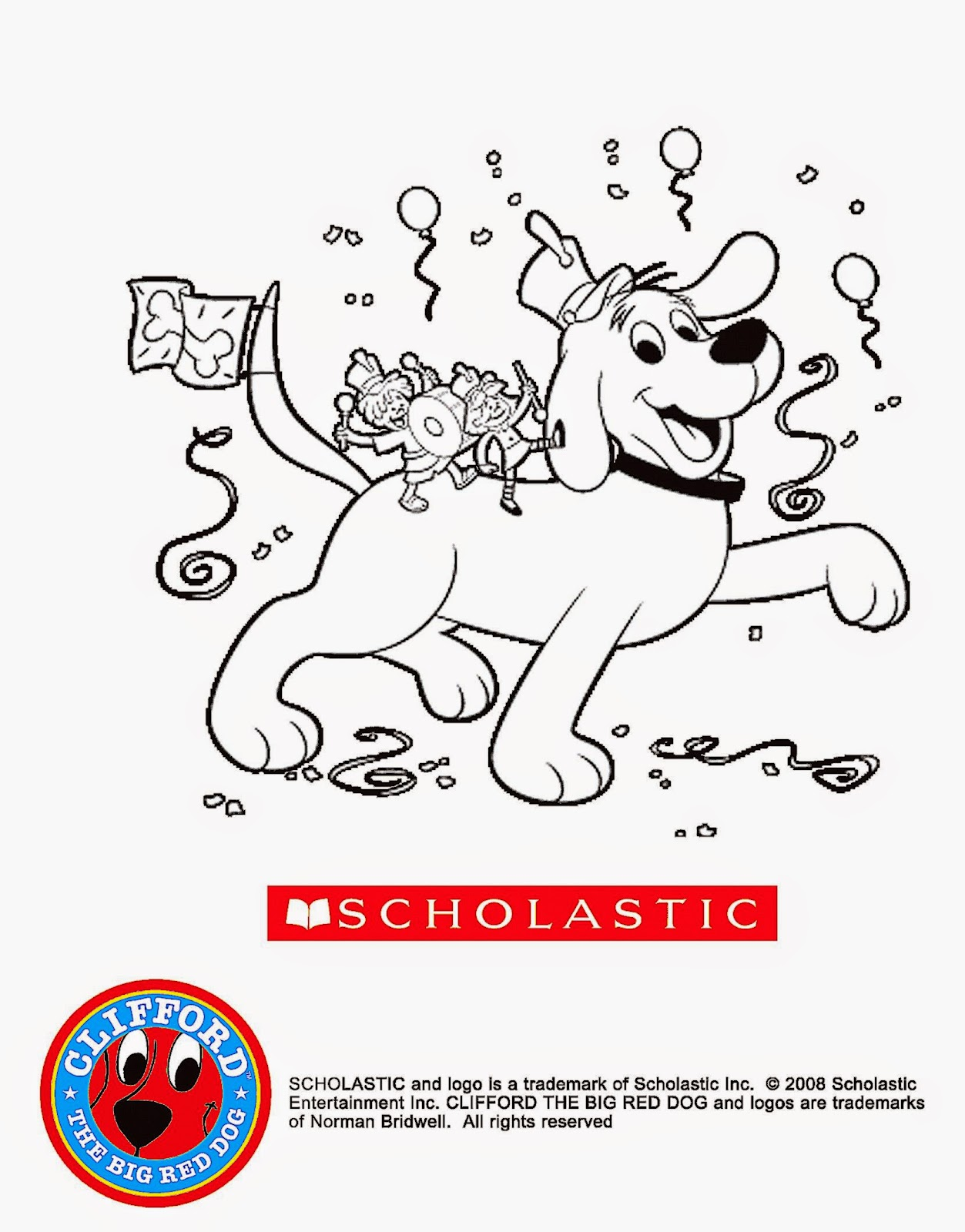 Clifford The Big Red Dog Coloring Pages To Print