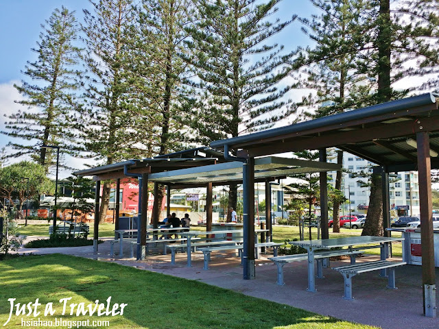 Australia Sunshine Coast Beach attraction surfing-sunshine%2Bcoast-beach-Alexandra%2BHeadland-surf-swim-place-picnic-bbq-barbeque-bench-park-just%2Ba%2Btraveler
