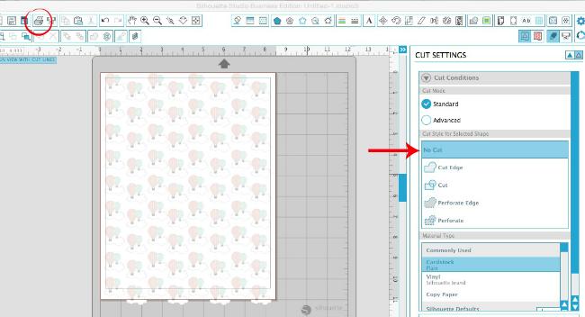 Silhouette Studio, custom patterned paper, Silhouette tutorial, print
