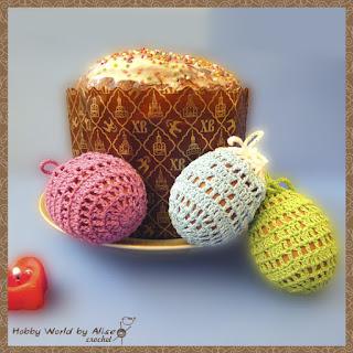 Мешочек для пасхальных яиц крючком