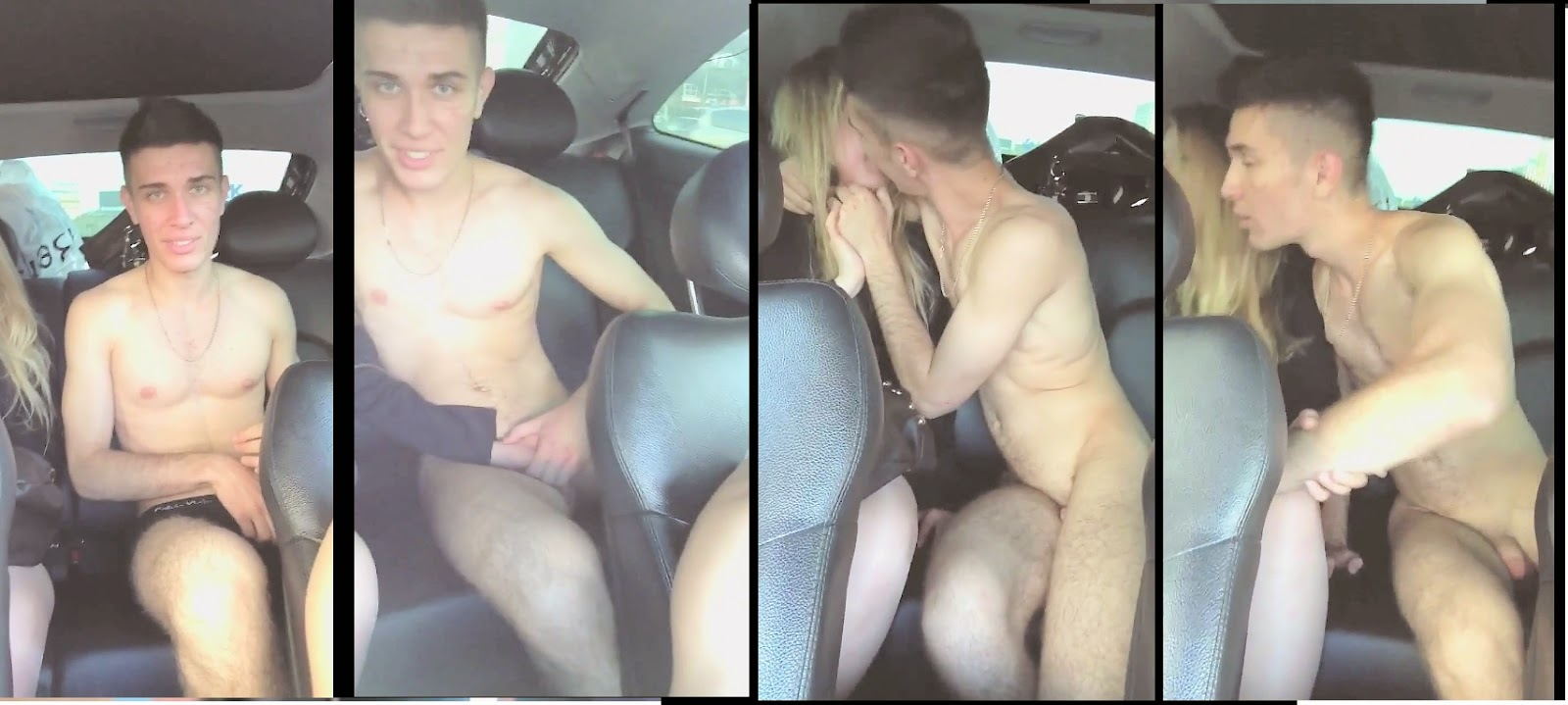 naked guy in a car