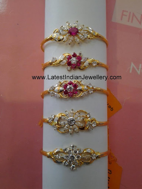 Light Weight Beautiful Gold Bracelets For Women With Czs