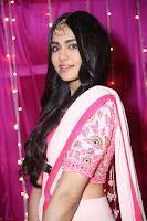 Adaa Sharma in White Pink Saree at Zee Telugu Apsara Awards 2017 17.JPG