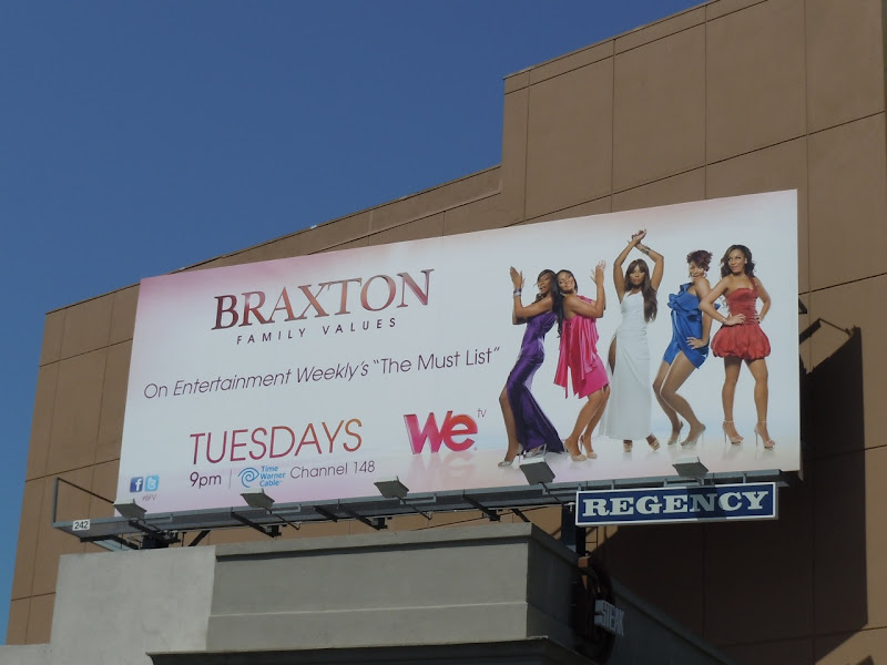 Braxton Family Values TV billboard