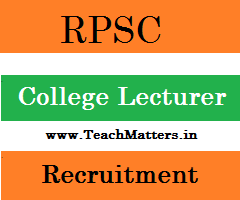 image : RPSC College Lecturer Exam 2016 @ TeachMatters
