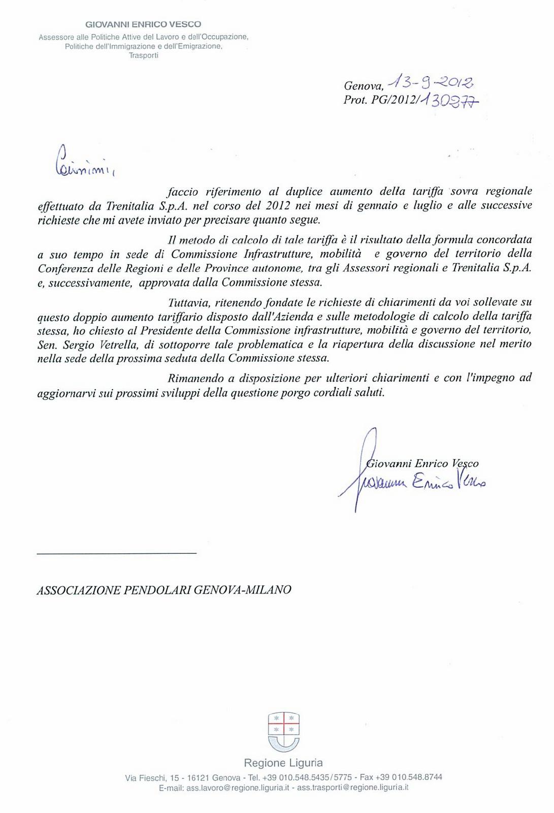 GenovaMilanoNewsletter: Tariffe sovraregionali: i nostri ...