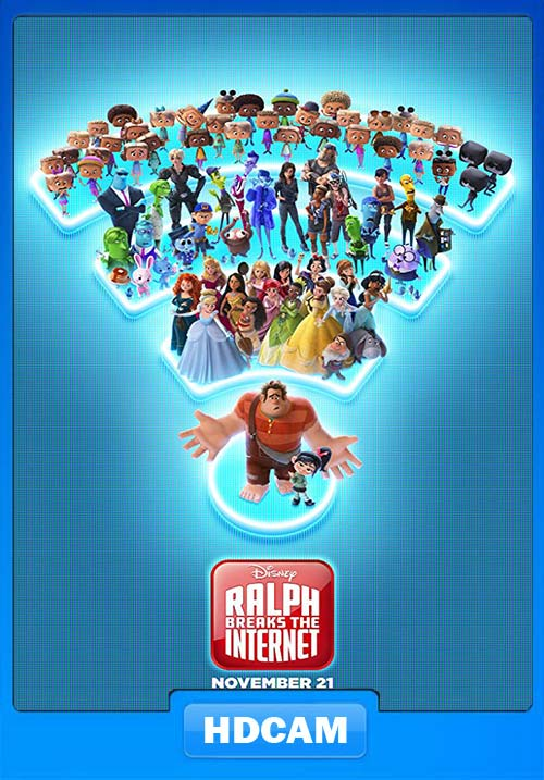 Ralph Breaks the Internet 2018 720p HDCAM Hindi Eng x264 | 480p 300MB | 100MB HEVC Poster