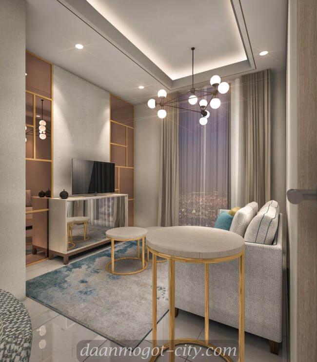 Contoh design kamar apartemen DAMOCI