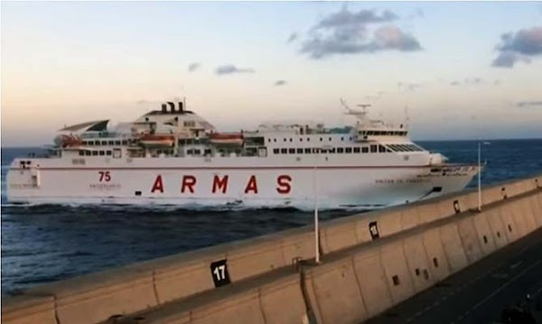 Heridos en accidente Ferry de Armas Muelle Las Las Palmas
