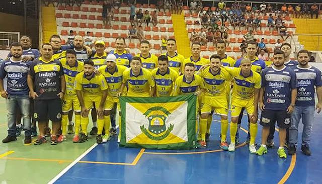 Horizonte goleia o Eusébio no 1º jogo das quartas do Cearense de Futsal.